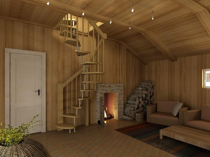 Как можно сделать лестницу на второй этаж в частном доме